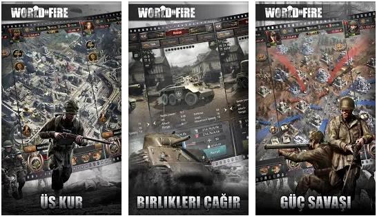 world on fire mobil strateji oyunu