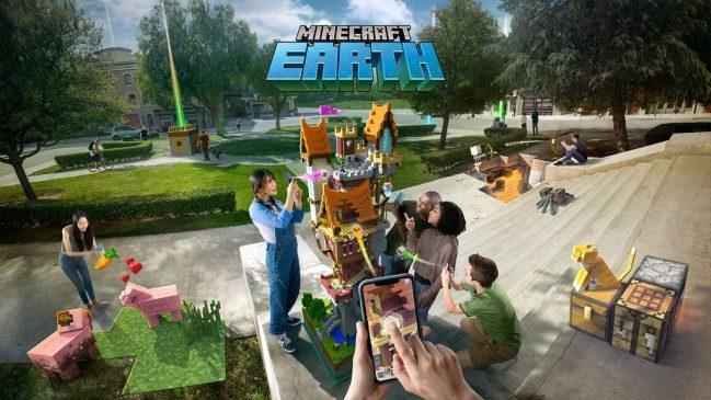 minecraft earth ar arttırılmış gerçeklik pokemon go benzeri minecraft oyunu