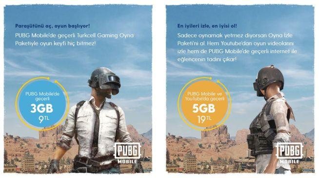 Turkcell Gaming Pubg Mobile İnternet Paketleri