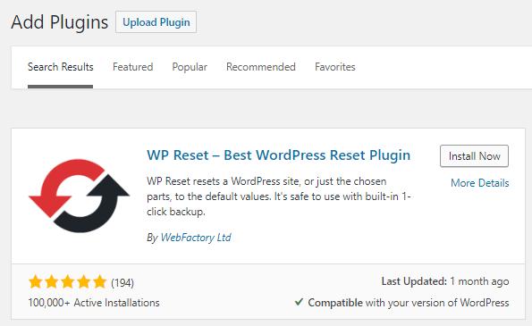 wp sıfırlama en iyi wordpress sıfırlama eklentisi
