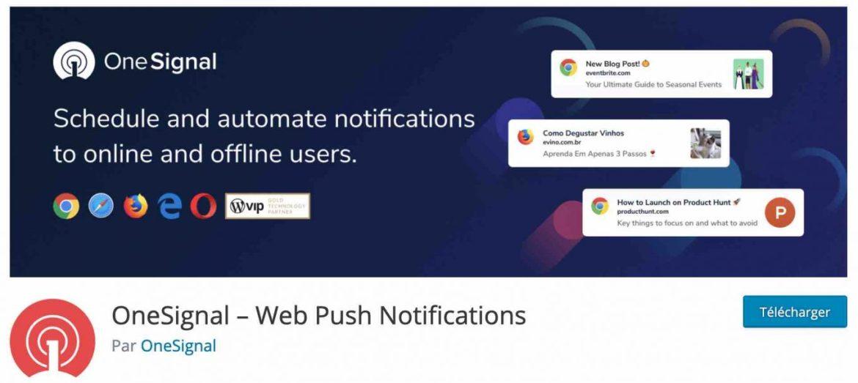 OneSignal, web push bildirimleri göndermeye izin verir