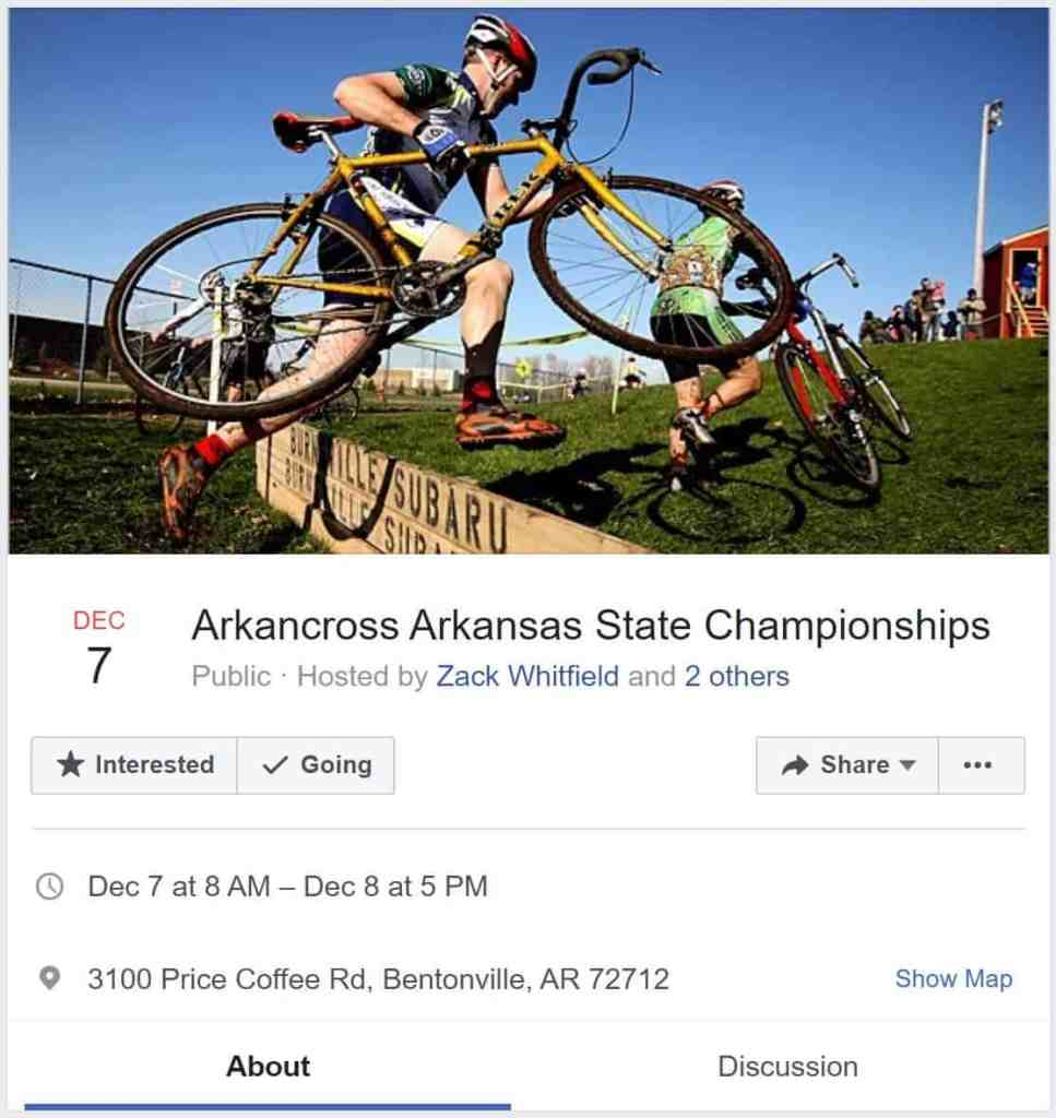 Weekend Ride Notification 12/8 - Ozark Cycling Adventures, Cycling news and Routes in Northwest Arkansas NWA