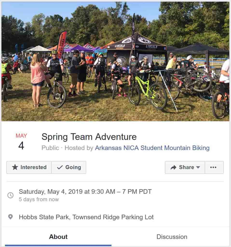 Weekend Ride Notification 5/3   NWA Cycling News - Ozark Cycling Adventures, Cycling news and Routes in Northwest Arkansas NWA