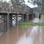 Steel Bridge Boggabri In Flood