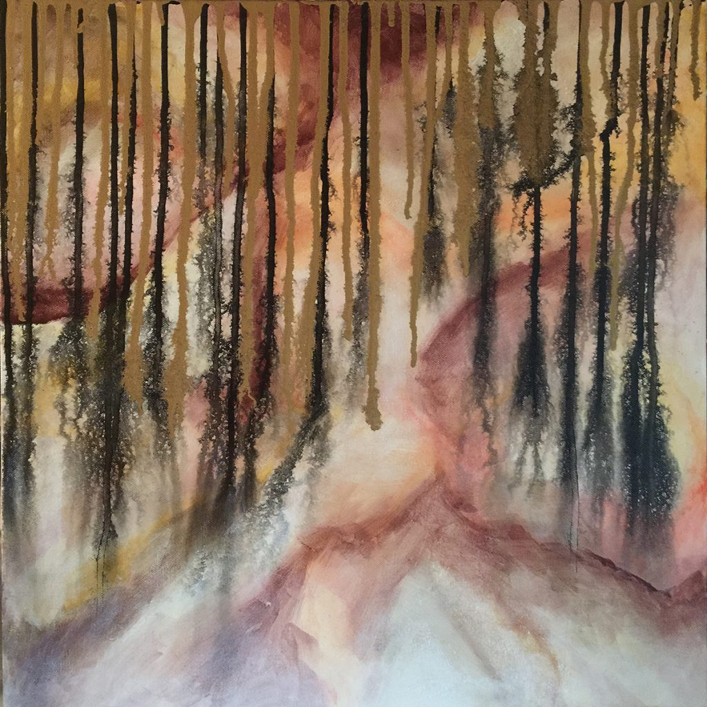Ozarks Art Gallery | Among the Shadows I - Original Abstract Painting by KJ Burk