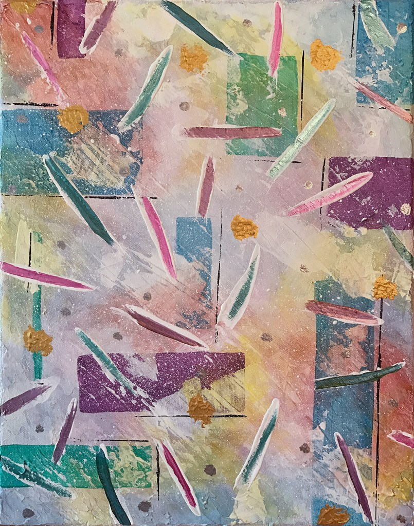 Ozarks Art Gallery | Celebration - Original Abstract Painting by KJ Burk