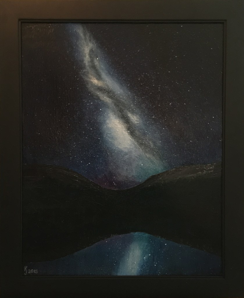 Ozarks Art Gallery | Milkyway Galaxy As I See It - Original Space Painting by KJ Burk