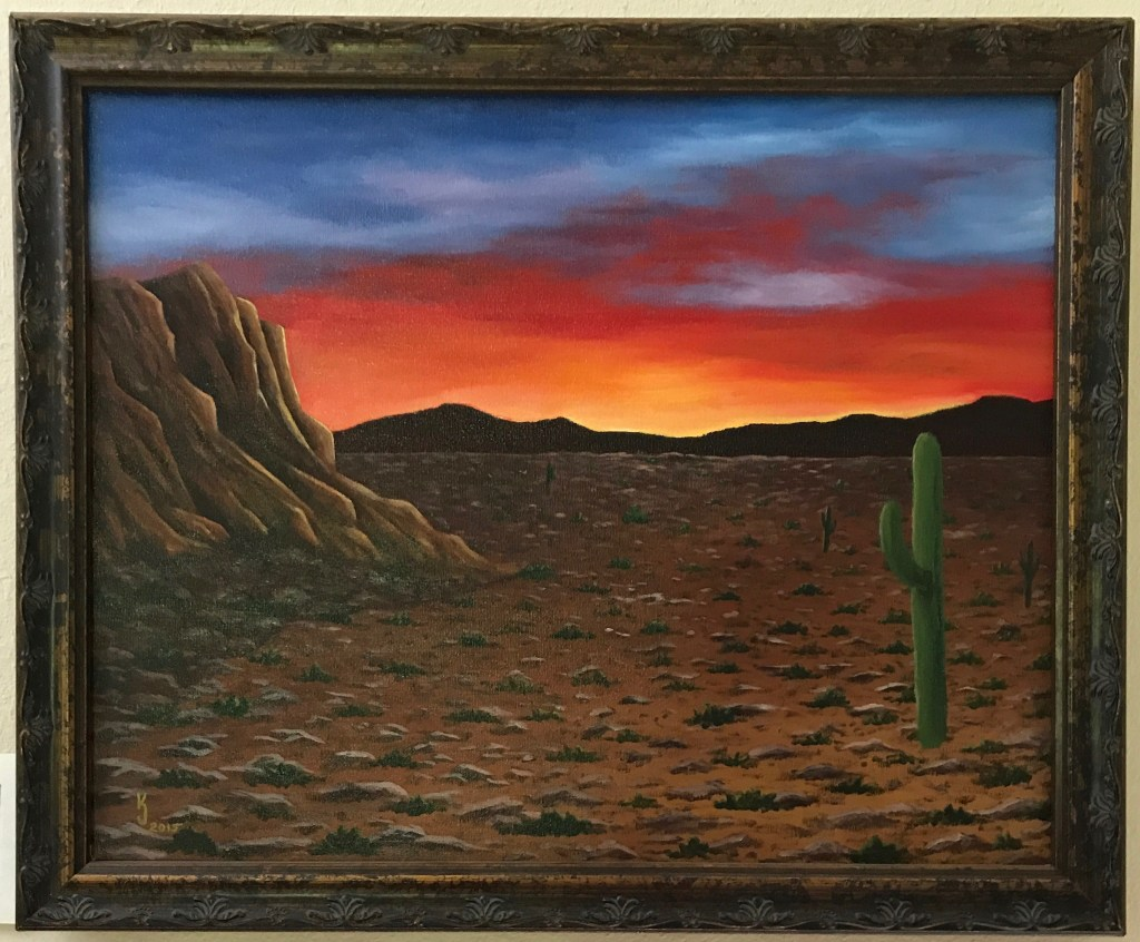 Arizona Sunset - Original Acrylic Painting by KJ Burk