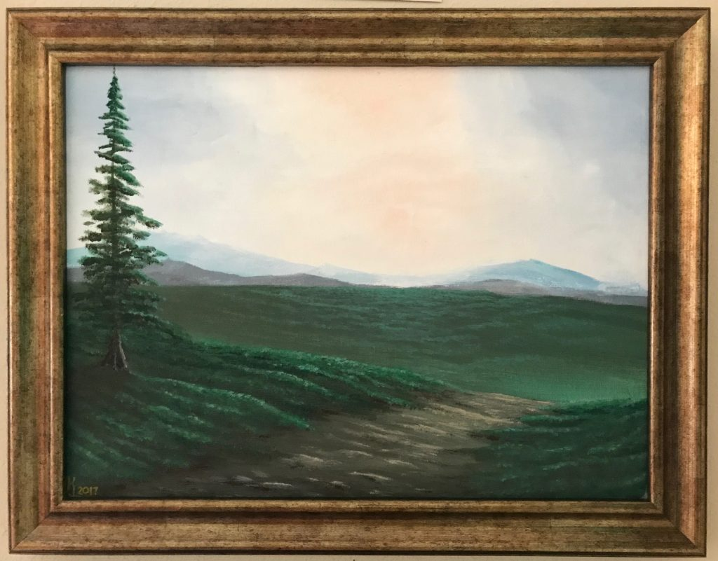 Ozarks Art Gallery | August Pine - Original Landscape Painting by KJ Burk