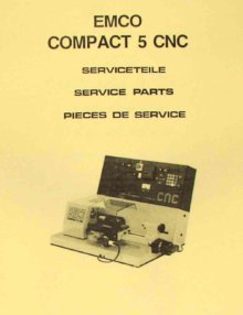 EMCO F1 CNC Milling Machine Parts Manual | Ozark Tool Manuals & Books