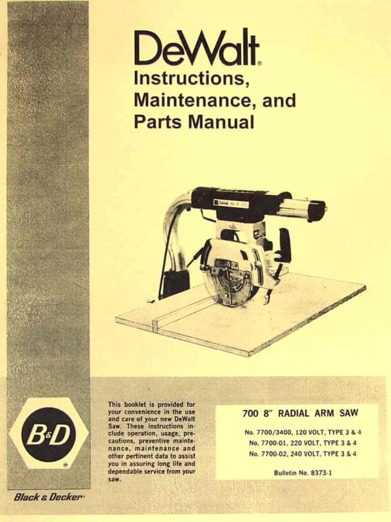 Black Table 8 Manual Decker Saw And Owners