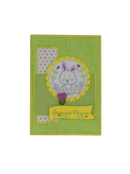 Carte lapin joyeuses pâques