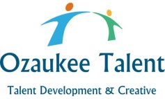 Ozaukee Talent logo of two people connecting arms and tag that says Talent Development and Creative