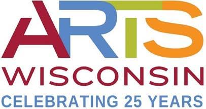 Arts Wisconsin logo celebrating 25 years