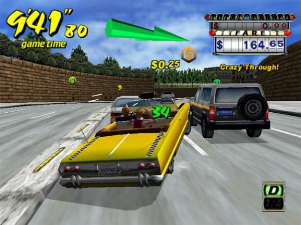 Crazy Taxi gameplay shot