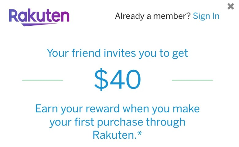 Rakuten Cash Back - Referral Program