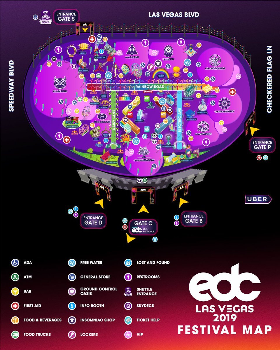 EDC-Las-Vegas-2019-Map-Poster