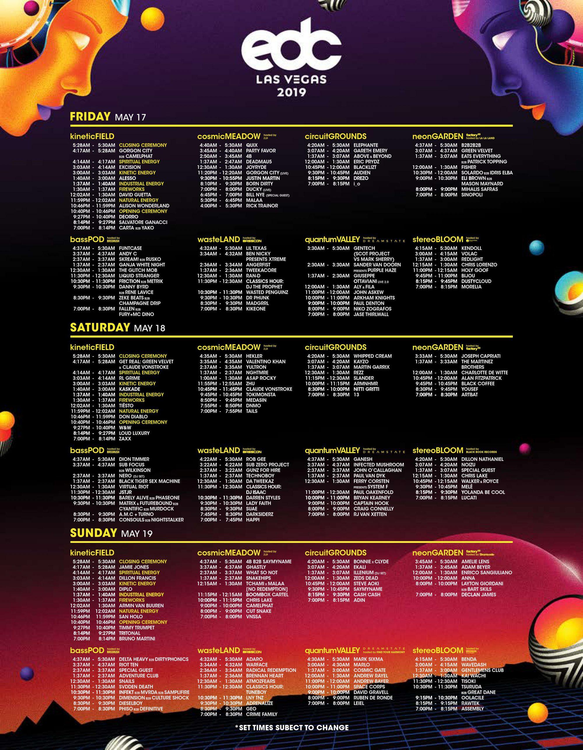 EDC-Las-Vegas-2019-Set-Times-Poster