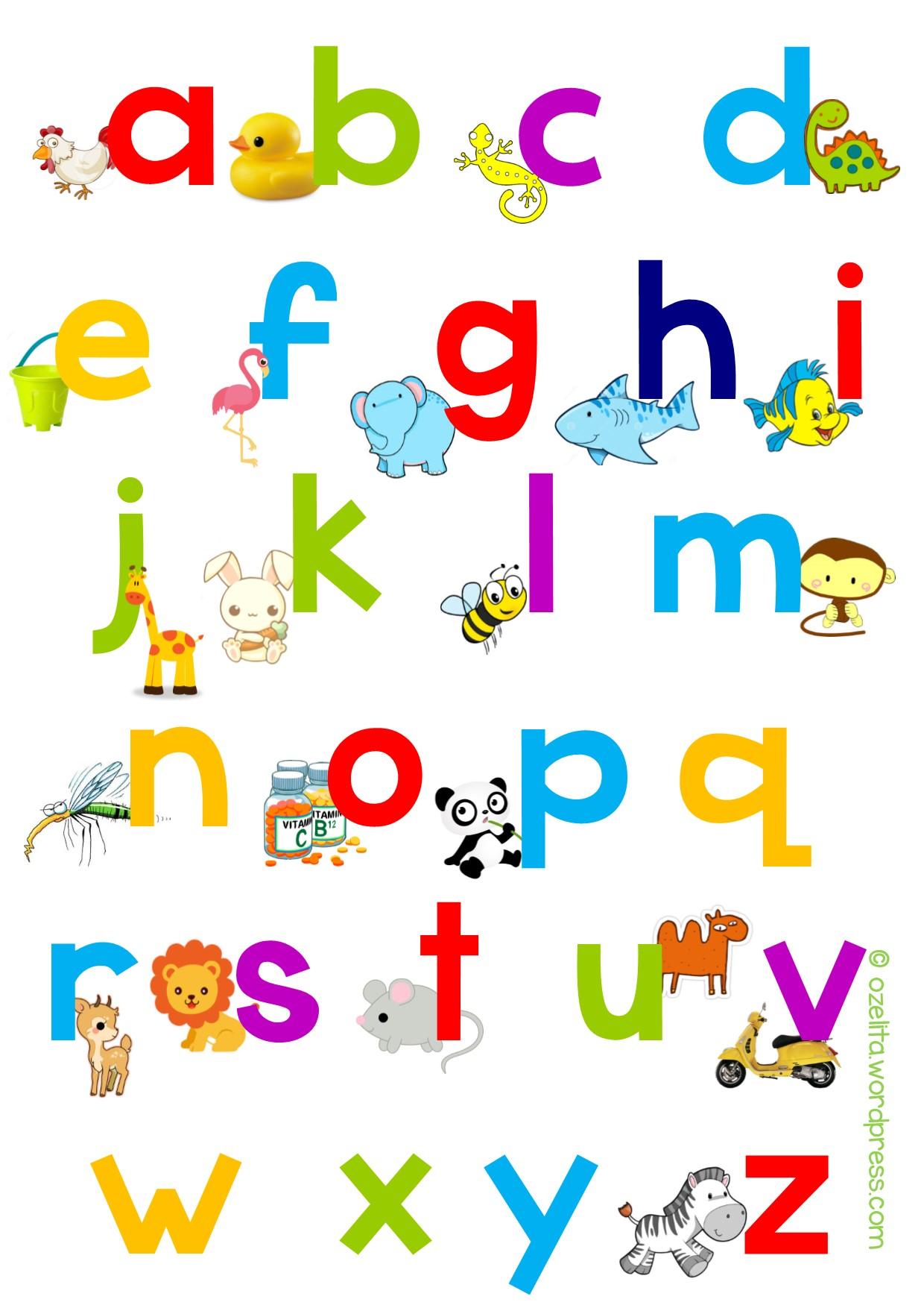 Belajar Membaca Amp Alphabet Freebie Ozelita
