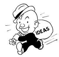 retro man full of ideas