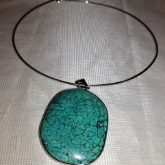 collar necklace turquoise pendant