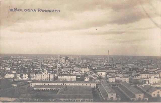Vintage postcard of Bologna, Italy