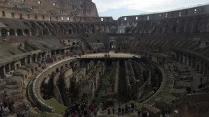 Roma Rome Italy Colosseo inside of Colosseum