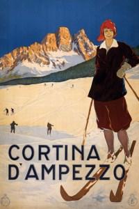 Cortina d'Ampezzo 1920 travel poster