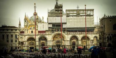 St Mark's Basilica, Venice Italy at rainy day