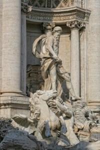 Neptune statue Fontana di Trevi Rome Italy