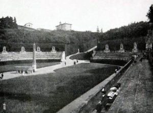 Boboli Gardens Amphitheatre, vintage photo 1910 (Tuscany, Florence)
