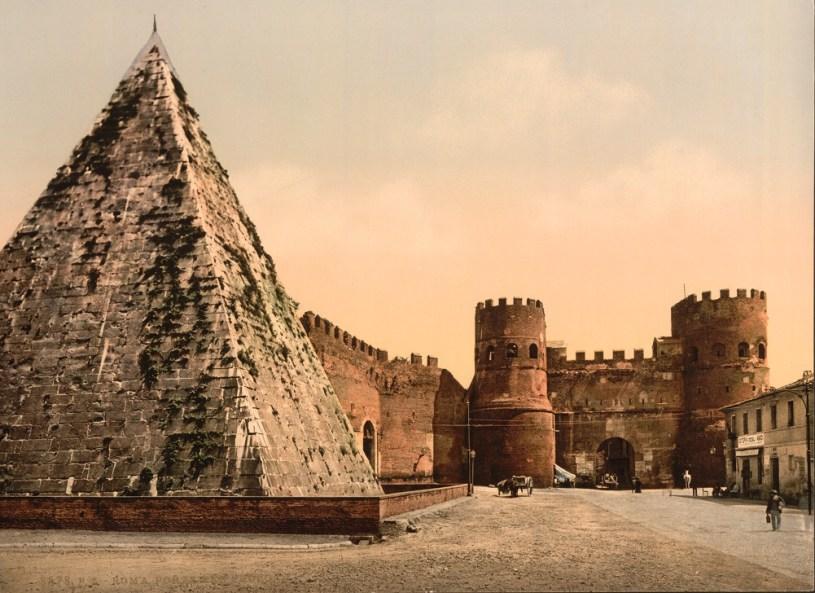 Piramide Cestia (Pyramid of Cestius) St. Paul's Gate, Rome, Italy