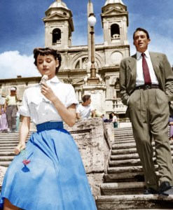 Roman Holiday Spanish stesps scene