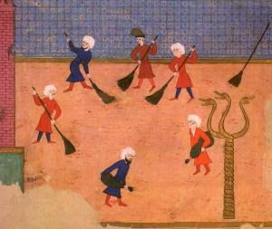 Serpent Column, Τρικάρηνος Όφις, Hippodrome. Ottoman miniature from the Surname-i Vehbi, 1582