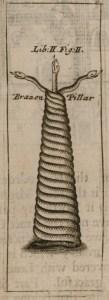 Serpent Column, Τρικάρηνος Όφις George Wheler (1682)