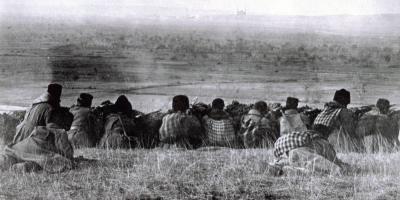 Bulgarian army at the gates of Adrinople, Balkan Wars 1912