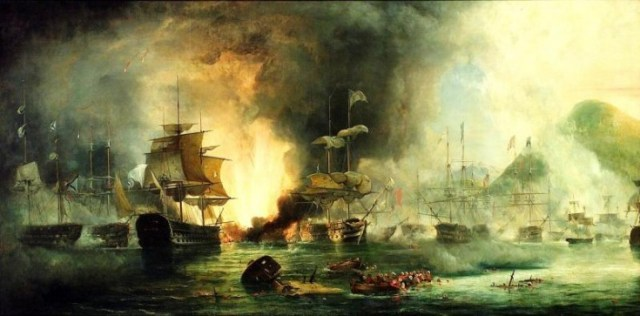 The Battle of Navarino by George Philip Reinagle