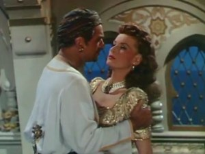 Douglas Fairbanks, Jr. & Maureen O'Hara in Sinbad the Sailor (1947)