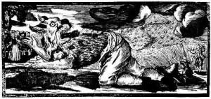 German woodcut of werewolf from 1722.
