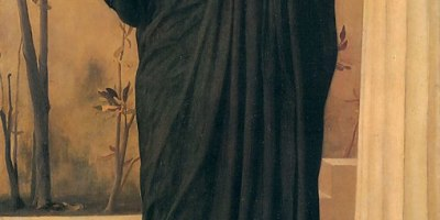 Electra at the Tomb of Agamemnon, Frederic Leighton 1869