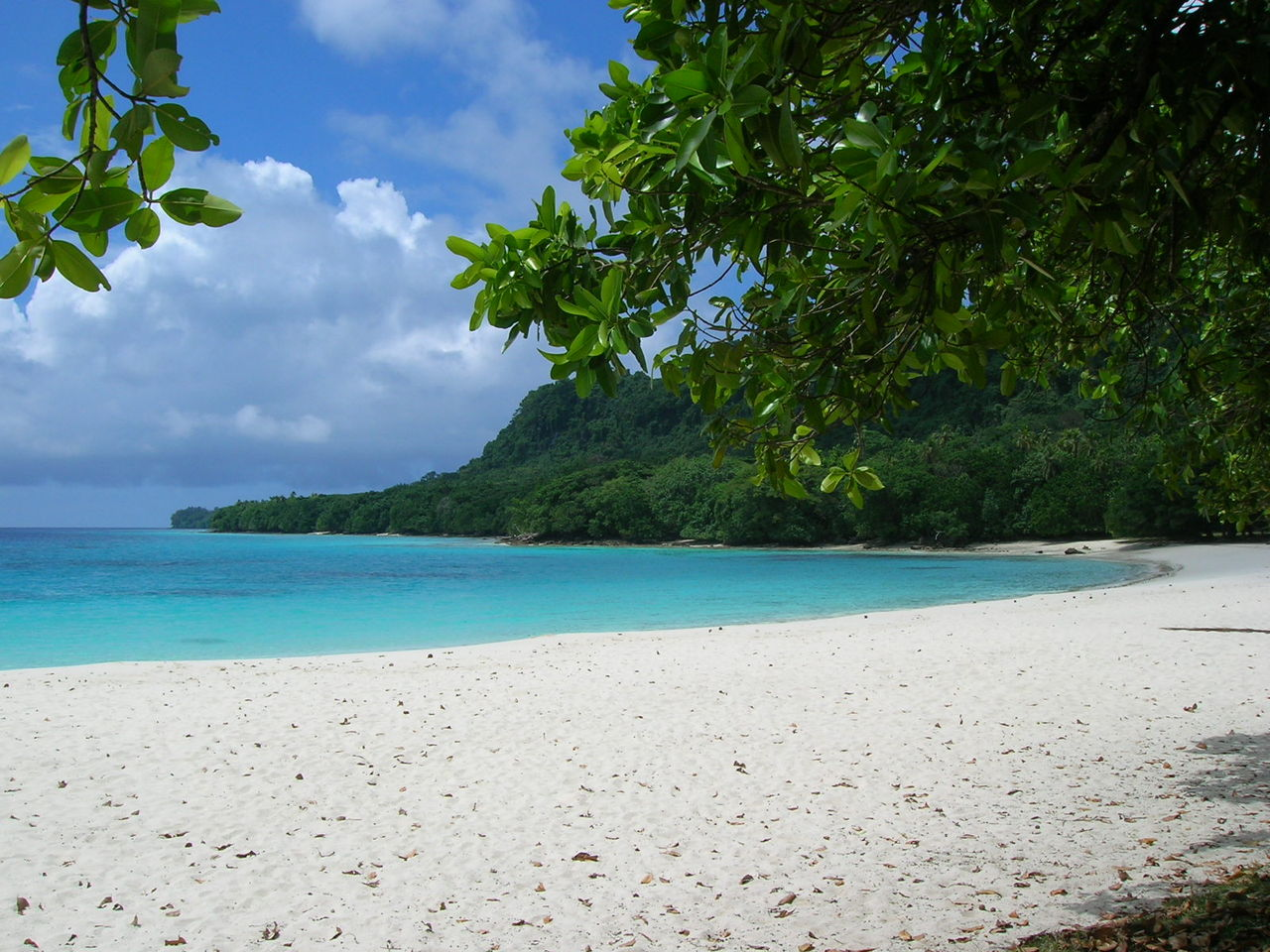 Champagne Beach, North Santo in Vanuatu