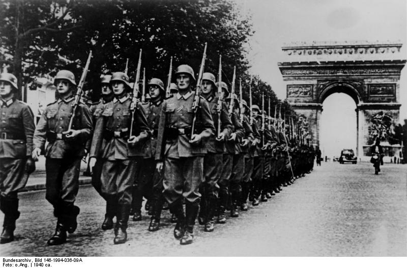 Parisians woke up this morning to German-accented voices announcing an 8pm curfew over loudspeakers; the Germans have captured Paris.