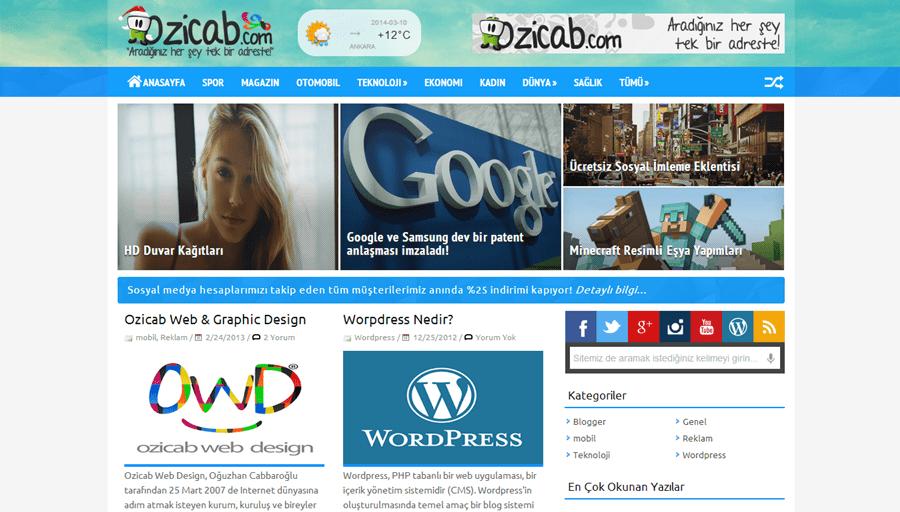 Ozicab Design PORTAL2 Teması