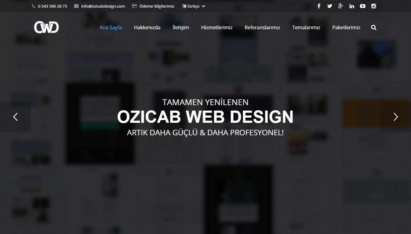 Yenilenen Ozicab Web Design Artık Daha Güçlü!