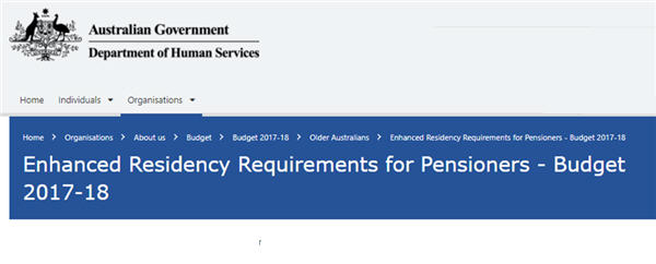 Pension residency changes
