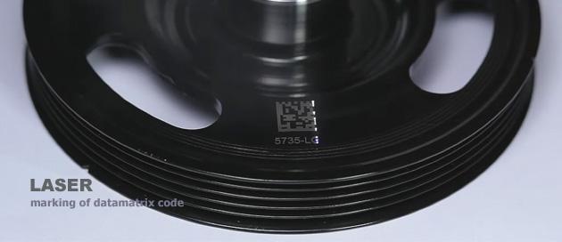 Laser marking of datamatrix code