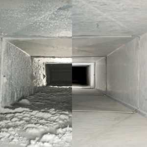Moldy air duct in a house