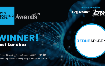 Ozone wins Best Sandbox at the Open Banking Expo Awards 2021 Ceremony
