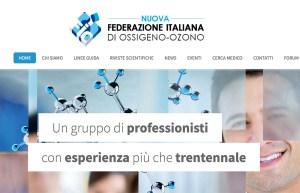 Il sito www.webfio.it diventa www.nuovafio.it, uno screenshot della home page della comunità on line della Federazione Italiana Ossigeno Ozono