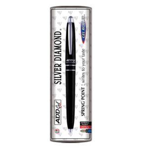 ADD Gel Silver Diamond Black Pen